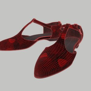 ankle-strap-flats-red-pbr-3d-model-physically-based-rendering-wireframe-1