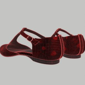 ankle-strap-flats-red-pbr-3d-model-physically-based-rendering-wireframe-4