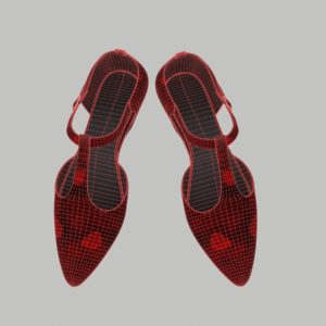 ankle-strap-flats-red-pbr-3d-model-physically-based-rendering-wireframe-6