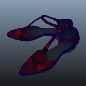 ankle-strap-flats-red-pbr-3d-model-physically-based-rendering-wireframe-8
