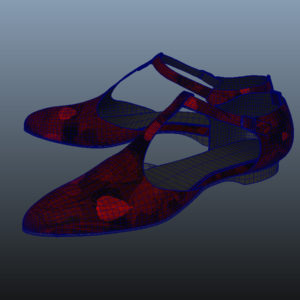 ankle-strap-flats-red-pbr-3d-model-physically-based-rendering-wireframe-9