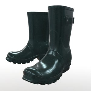 Mid Calf Rain Boots Green PBR 3D Model