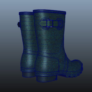 mid-calf-rain-boots-green-pbr-3d-model-physically-based-rendering-wireframe-10