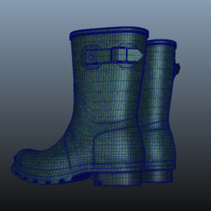 mid-calf-rain-boots-green-pbr-3d-model-physically-based-rendering-wireframe-12