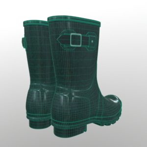 mid-calf-rain-boots-green-pbr-3d-model-physically-based-rendering-wireframe-4