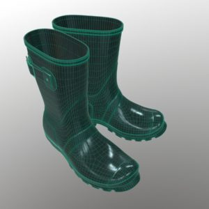 mid-calf-rain-boots-green-pbr-3d-model-physically-based-rendering-wireframe-5