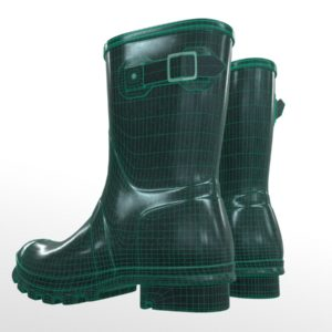 mid-calf-rain-boots-green-pbr-3d-model-physically-based-rendering-wireframe-6