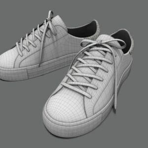 sneakers-white-pbr-3d-model-physically-based-rendering-wireframe-1