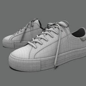 sneakers-white-pbr-3d-model-physically-based-rendering-wireframe-2