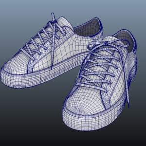 sneakers-white-pbr-3d-model-physically-based-rendering-wireframe-7