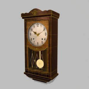 antique-pendulum-wall-clock-pbr-3d-model-physically-based-rendering-wireframe-2