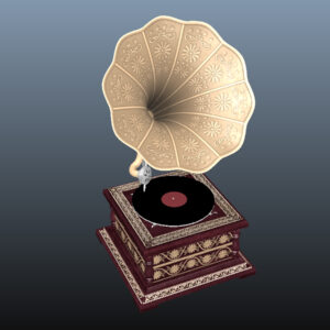 retro-trumpet-horn_record-player-pbr-3d-model-physically-based-rendering-11