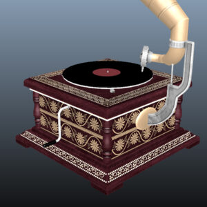 retro-trumpet-horn_record-player-pbr-3d-model-physically-based-rendering-13