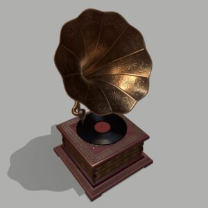 retro-trumpet-horn_record-player-pbr-3d-model-physically-based-rendering-4