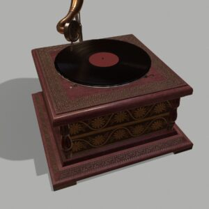 retro-trumpet-horn_record-player-pbr-3d-model-physically-based-rendering-5