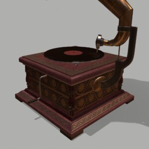 retro-trumpet-horn_record-player-pbr-3d-model-physically-based-rendering-6