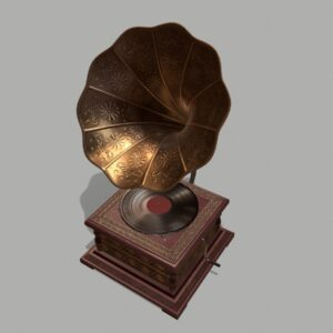 retro-trumpet-horn_record-player-pbr-3d-model-physically-based-rendering-7