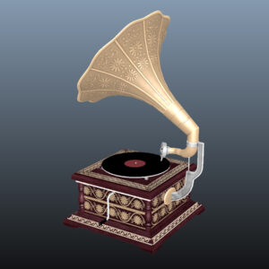 retro-trumpet-horn_record-player-pbr-3d-model-physically-based-rendering-9