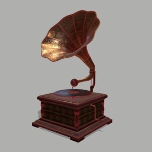 retro-trumpet-horn_record-player-pbr-3d-model-physically-based-rendering-wireframe-1