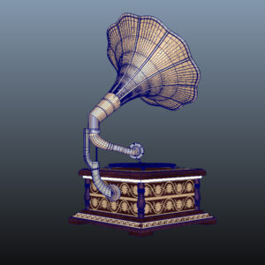 retro-trumpet-horn_record-player-pbr-3d-model-physically-based-rendering-wireframe-10