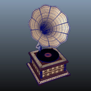 retro-trumpet-horn_record-player-pbr-3d-model-physically-based-rendering-wireframe-11