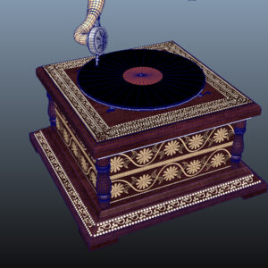 retro-trumpet-horn_record-player-pbr-3d-model-physically-based-rendering-wireframe-12