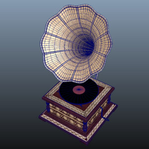 retro-trumpet-horn_record-player-pbr-3d-model-physically-based-rendering-wireframe-14