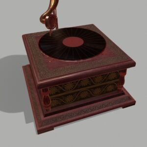 retro-trumpet-horn_record-player-pbr-3d-model-physically-based-rendering-wireframe-5