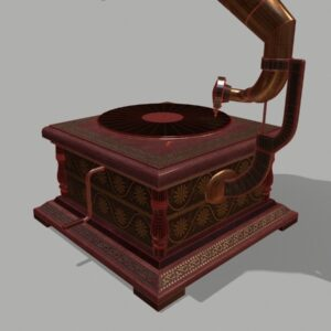 retro-trumpet-horn_record-player-pbr-3d-model-physically-based-rendering-wireframe-6