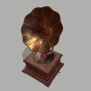 retro-trumpet-horn_record-player-pbr-3d-model-physically-based-rendering-wireframe-7