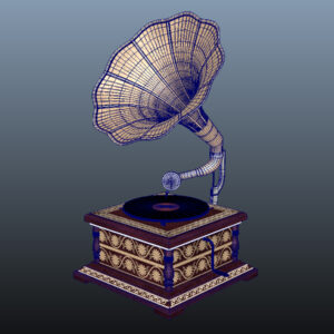 retro-trumpet-horn_record-player-pbr-3d-model-physically-based-rendering-wireframe-8