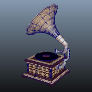 retro-trumpet-horn_record-player-pbr-3d-model-physically-based-rendering-wireframe-9