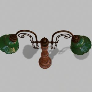 antique-green-glass-table-lamp-pbr-3d-model-physically-based-rendering-4