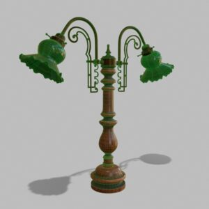 antique-green-glass-table-lamp-pbr-3d-model-physically-based-rendering-wireframe-1