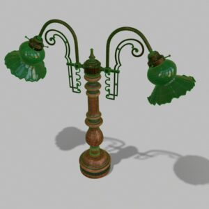 antique-green-glass-table-lamp-pbr-3d-model-physically-based-rendering-wireframe-2