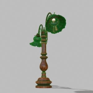 antique-green-glass-table-lamp-pbr-3d-model-physically-based-rendering-wireframe-5