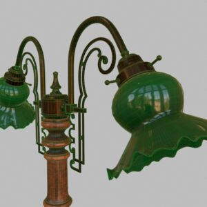 antique-green-glass-table-lamp-pbr-3d-model-physically-based-rendering-wireframe-7