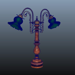 antique-green-glass-table-lamp-pbr-3d-model-physically-based-rendering-wireframe-8