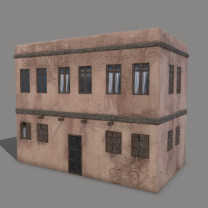 Middle Eastern Old Clay House Style1 PBR 3D Model
