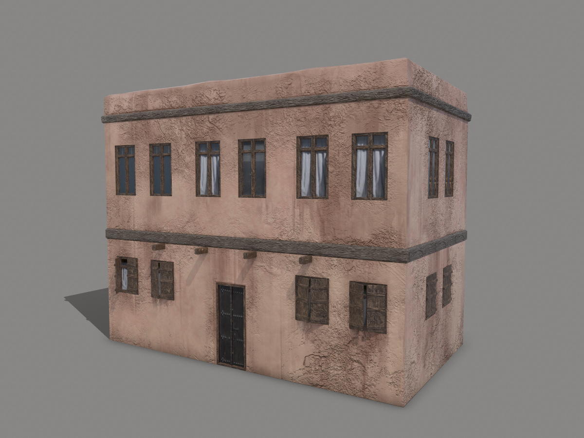 middle-eastern-old-clay-house-style1-pbr-3d-model-physically-based-rendering-1