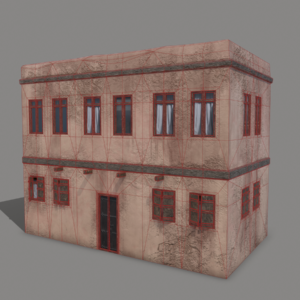 middle-eastern-old-clay-house-style1-pbr-3d-model-physically-based-rendering-wireframe-1