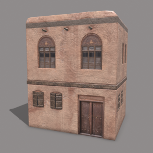 Middle Eastern Old Clay House Style2 PBR 3D Model