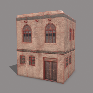 middle-eastern-old-clay-house-style2-pbr-3d-model-physically-based-rendering-wireframe-1