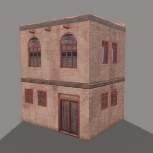 middle-eastern-old-clay-house-style2-pbr-3d-model-physically-based-rendering-wireframe-2