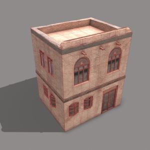 middle-eastern-old-clay-house-style2-pbr-3d-model-physically-based-rendering-wireframe-3