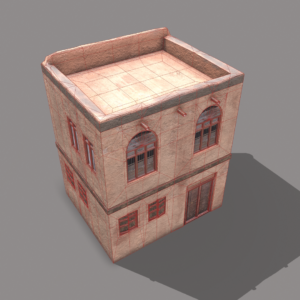 middle-eastern-old-clay-house-style2-pbr-3d-model-physically-based-rendering-wireframe-4
