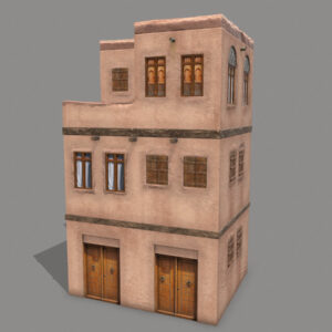 Middle Eastern Old Clay House Style3 PBR 3D Model