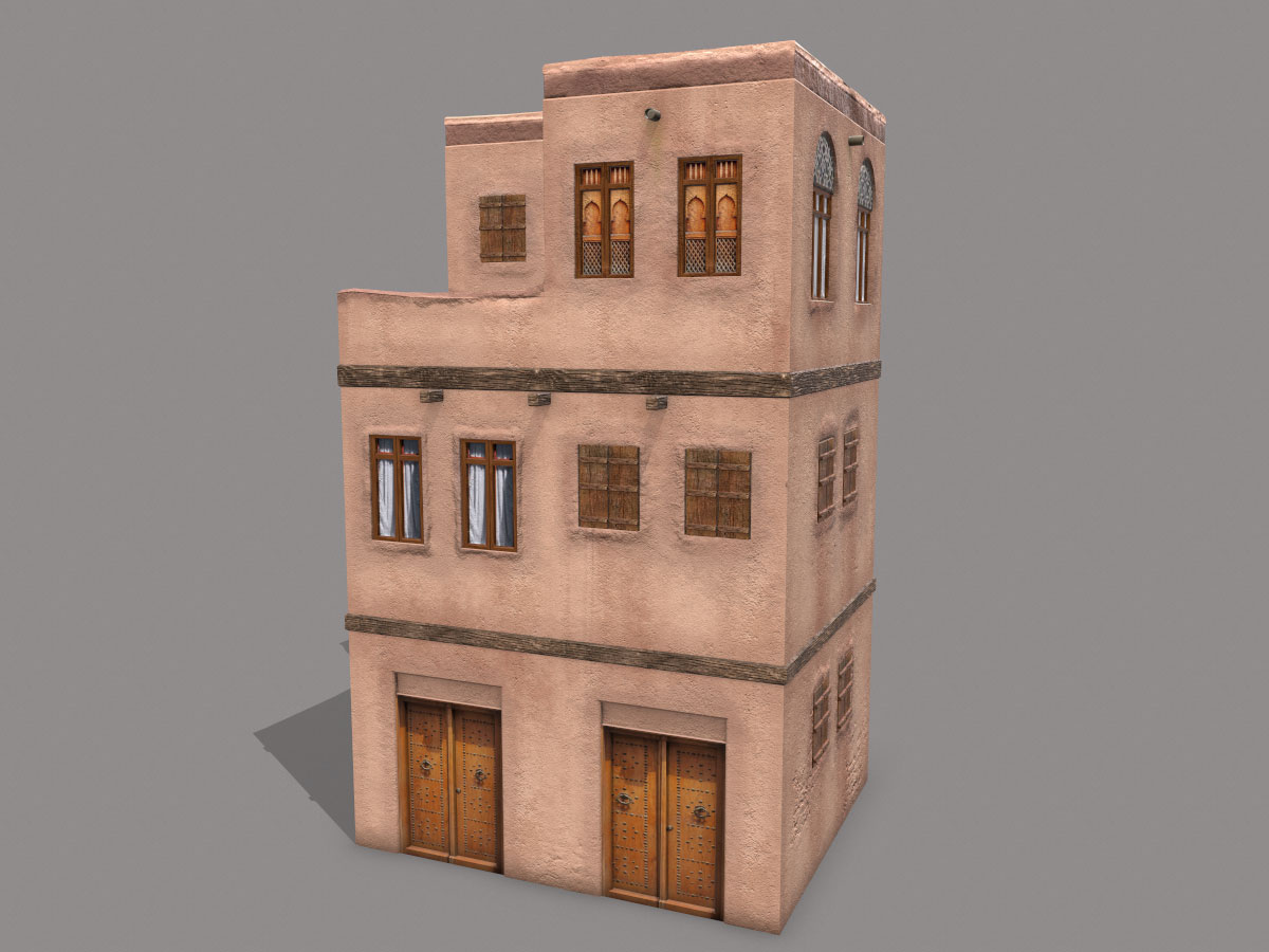middle-eastern-old-clay-house-style3-pbr-3d-model-physically-based-rendering-1