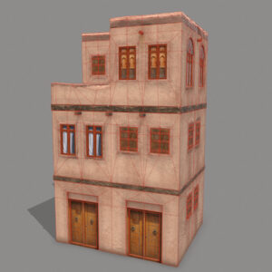 middle-eastern-old-clay-house-style3-pbr-3d-model-physically-based-rendering-wireframe-1