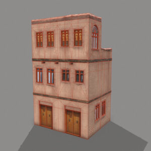 middle-eastern-old-clay-house-style3-pbr-3d-model-physically-based-rendering-wireframe-2